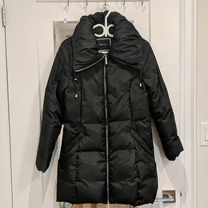 Down filled puff collar winter jacket (medium)